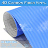 CARLIKE 1.52x30m 5x98FT Light Blue 4D Carbon Fiber Heat Resistant Wrap