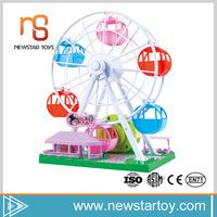 Shantou mini music box ferris wheel electric babies plastic toys for kids
