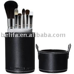 6pcs cosmetic brush sets with PU POT china china manufacturer made in china 2013 new products cosmetic