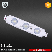 Waterproof IP65 led module type 2835 3 chips 0.72w smd injection led module for light box