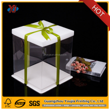 eco- friendly PET PP clear plastic cake box
