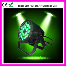 widely used 18pcs 10w rgbw 4 in 1 quad-color led par can