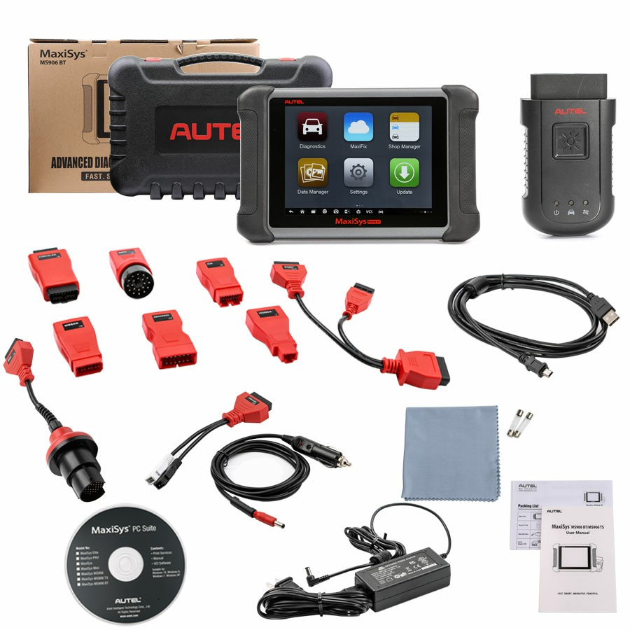 Autel MaxiSYS 906BT Automotive Diagnostic and Analysis System Key Coding Car OBD2 Diagnostic Scan Tool Better MS906