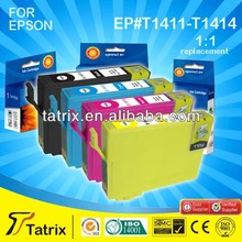 New Ink Cartridge Compatible for Epson T1411/1412/1413/1414 B C M Y