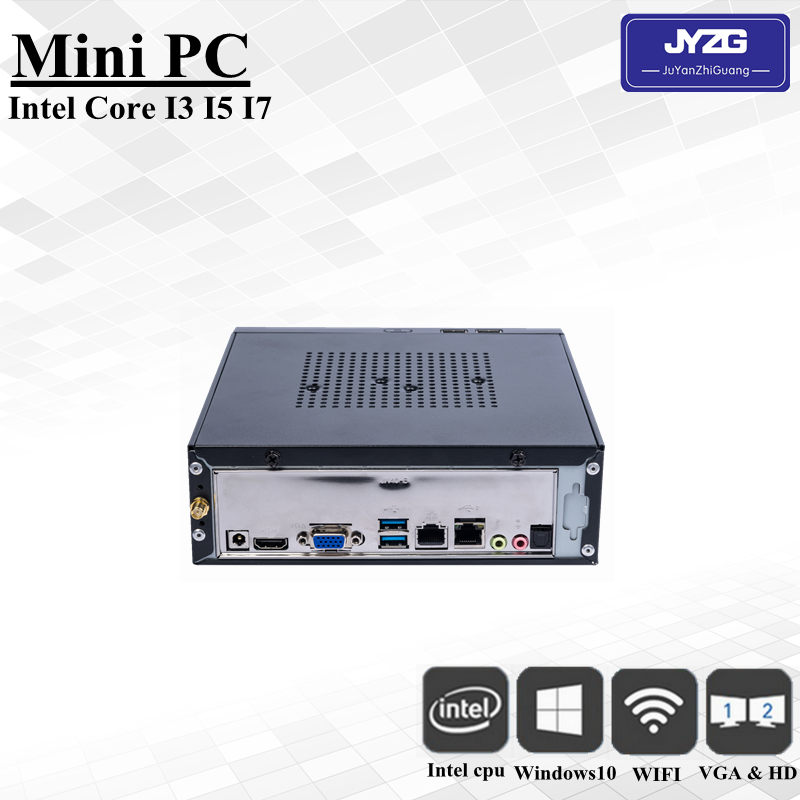 Dual lan fan/Fanless Mini computer Intel core i7 cpu 5550u all in one computer case for industry use