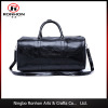 2016 new design high-class PU leather travel bag, hand bag in bright black color