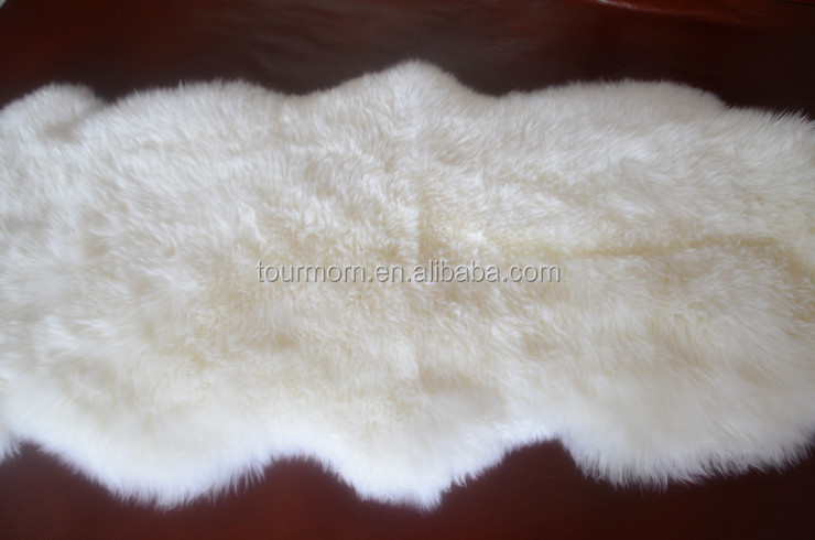 Factory Direct Supply 100% Real Rex Rabbit Fur Skin Blanket / Natural Fur Plate