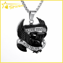 SX0042 factory direct sell custom-made RIDE TO LIVE eagle black animal biker pendant