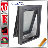 Australia AS2047 standard double glazed chain winder aluminium windows with mosquito net