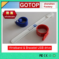 Cheap wristband flash drive promotional wristband usb flash drive silicone bracelet usb flash drive