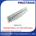 Top Rechargeable Laptop Battery Supplier for SAMSUNG R580 11.1V 7.8Ah 87Wh White
