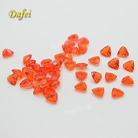 Special Red Triangle 5.5x5.5mm Glass Gems On Sale