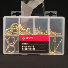 Latest product different types brass plated iron mini cup hooks