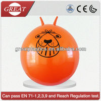 Non-toxic pvc gaint sheep-horn handle ball