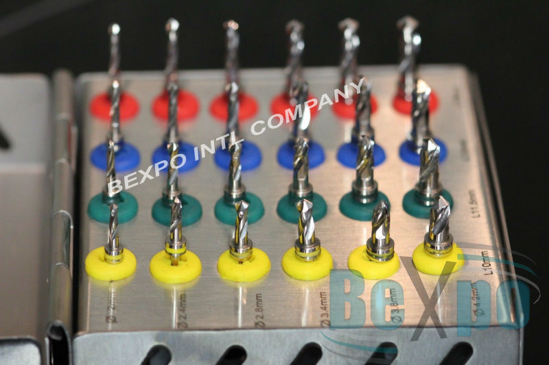 dental implant drills kit box dental drill bits for implants 10 mm 11.5 mm 13 mm 16 mm lengths