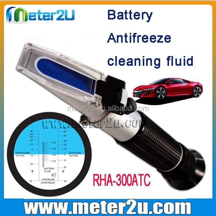 NEW Design Handheld Refractometer Battery Acid Antifreeze Fluid engine coolant pressure tester