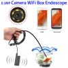 5.5mm 1m 0.3MP HD 30m Wireless Endoscope Inspection Camera with 6 LED for Android & iOS