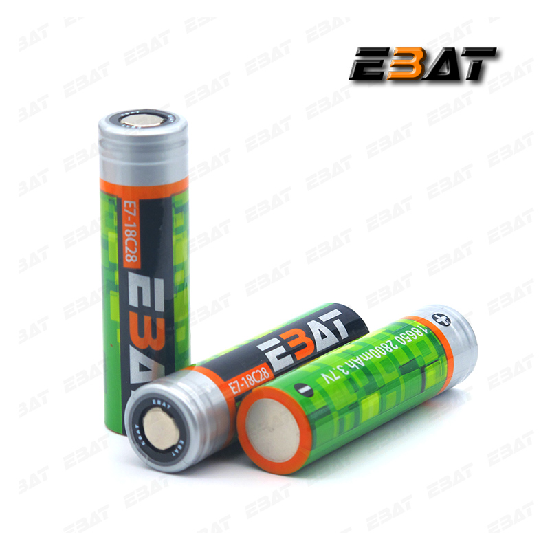 newsun lithium battery EBAT 18650 icr -2800mah rechargeable battery wholesale