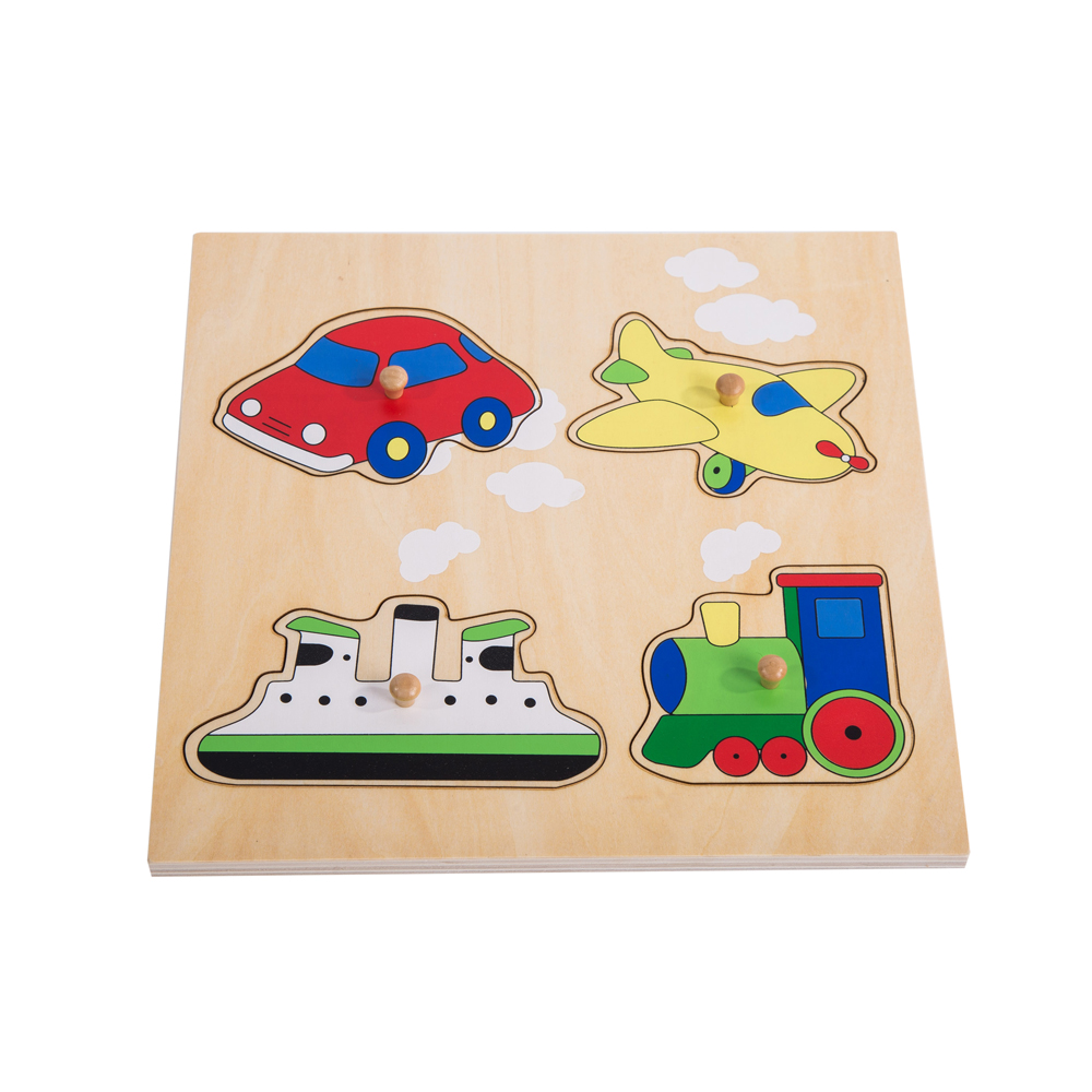 2017 Hot sales Educational Toys custom wooden magnetic toy Transportation tools shape montessori wooden puzzles