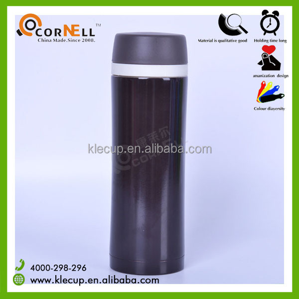Bowling shape thermos Silicone ring water bottle filter inside Double Wall Stainless Steel 550 ml Cup
