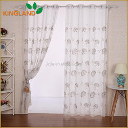 2016 New Nice quality European Style sable embroidery good price finished curtain