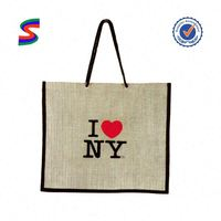 Print Jute Tote Bag Jute Zipper Bag