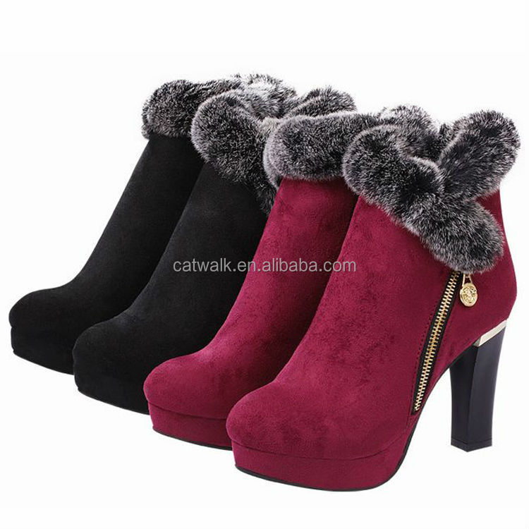 CATWALK-B-06076 good quality women boots 2014 high heel sexy winter boots/ladies fashion boots/boots heels