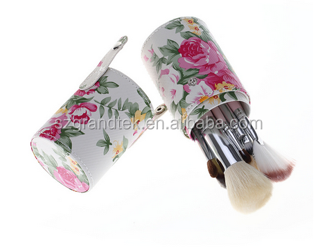 Hot sale flower brush sets makeup, High quality 12pcs makeup brushes set with bag , makeup brush set private label
