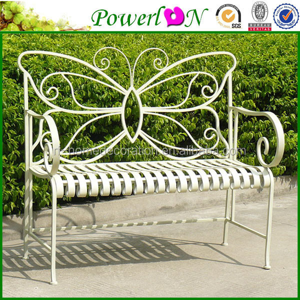 woodard wrought iron furniture cushions sale antique folding butterfly shape bench with wood slats white outdoor