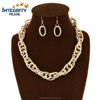 wholesale dubai 18K gold plated bridal necklace and earring african jewelry set
