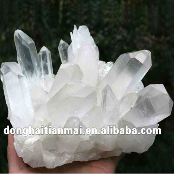 Decorative Large Natural Rock Quartz Clear Crystal Clusters for sale