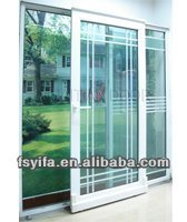 2014 YiFa high quality beautiful design aluminum window grills design pictures window grills design for sliding windows