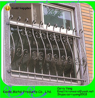 High Quality Wrought Iron Safety Window Grill Design for Sale