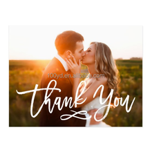 Chic Custom Wedding Thank You Postcard with Photo Printed