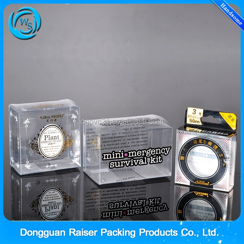Top selling clear hard plastic PVC folding packaging box for gift, electornics,storage packaging