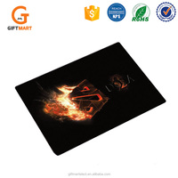 Rubber Printed Custom Laptop Mouse Pad Black