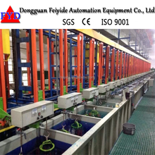 Feiyide Newly Electroplating Machine Automatic Vertical Rack Nickel Chrome Plating Plant