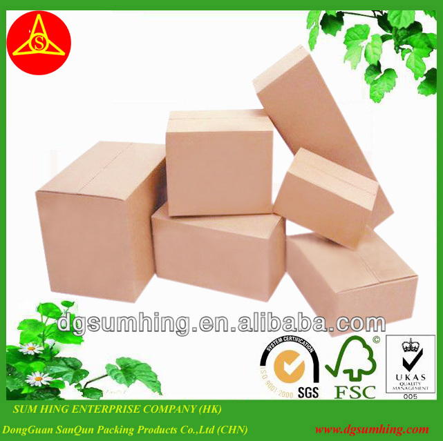 Brown Kraft 1 Piece Folding Cartons/chipboard boxes