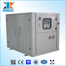 Water cooled water chiller for plastic machine
