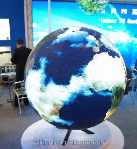 Interactive touch spherical/sphere screen hd led display full sexy xxx movies video