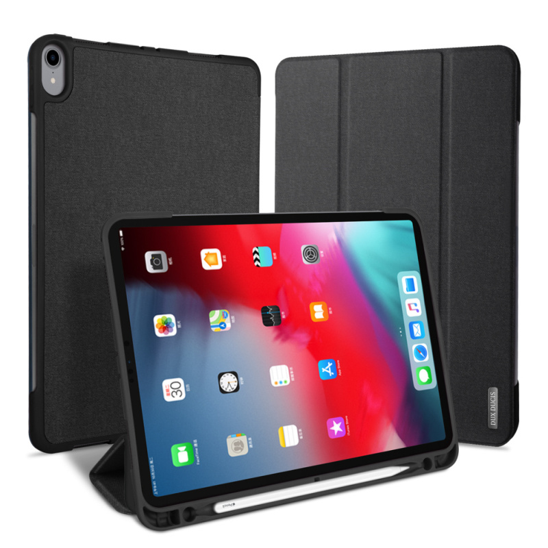 DUX DUCIS Flip Leather Smart Case for <strong>iPad</strong> Pro 12.9 2018 Auto Sleep with Pencil Holder 12.9 inch Coque