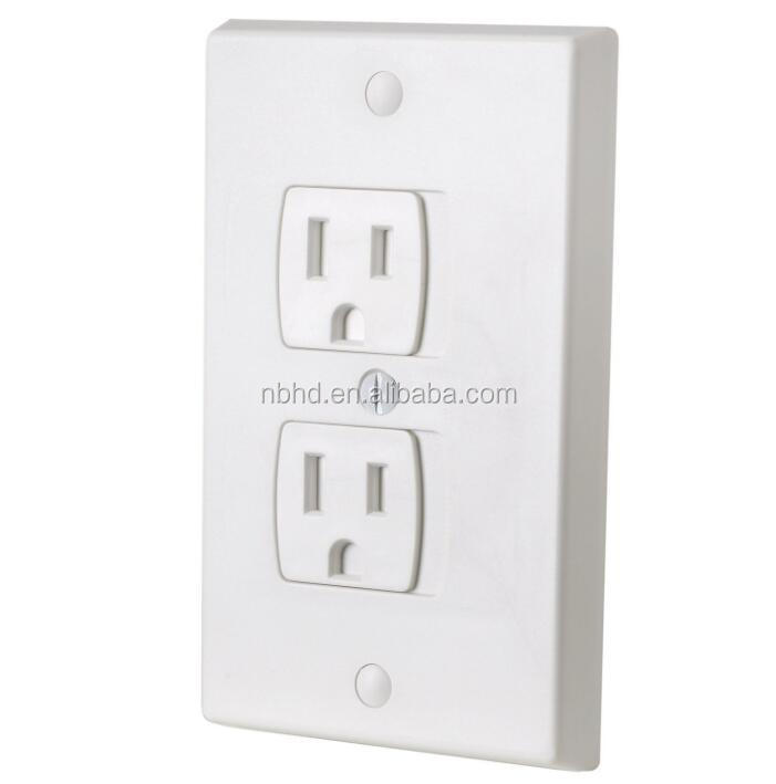 American Standard Child Safety Wall Socket Plug Safety Baby Self-Closing Outlet Covers