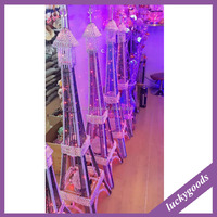 LDJ531 modern indoor decorative metal and crystal Eiffel Tower for sale
