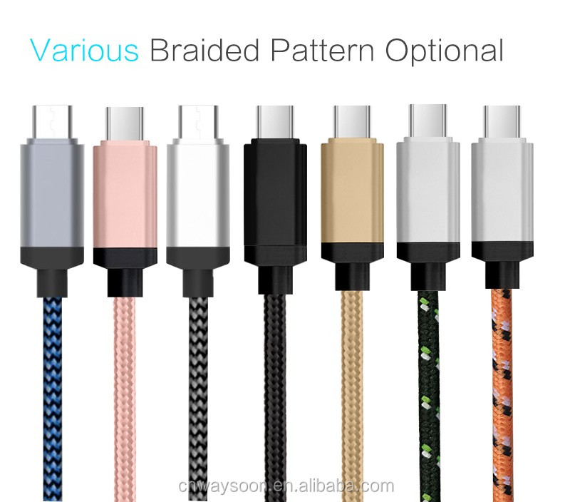 Type c Nylon Braided usb type c cable 3.1 5a usb if certified
