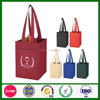 promotional high quality cheap wine non woven bag
