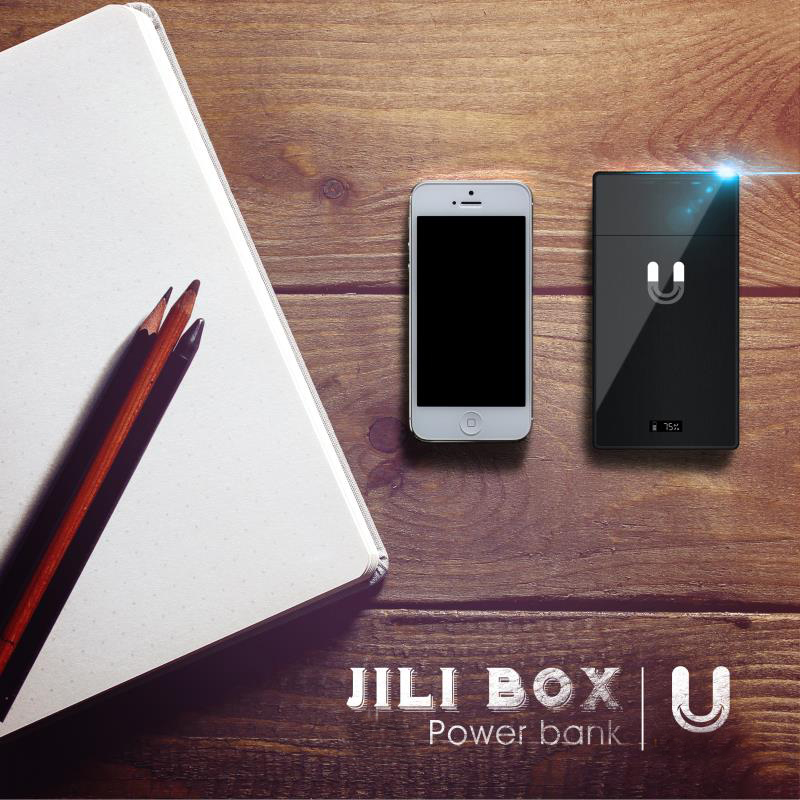 Pocket carry 3 in 1 JILI box 1200mah J-U-U-L pcc power bank by Acerig