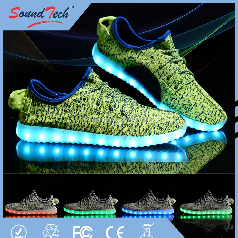 Simulation led shoes, led light up dance shoes, led light running shoes