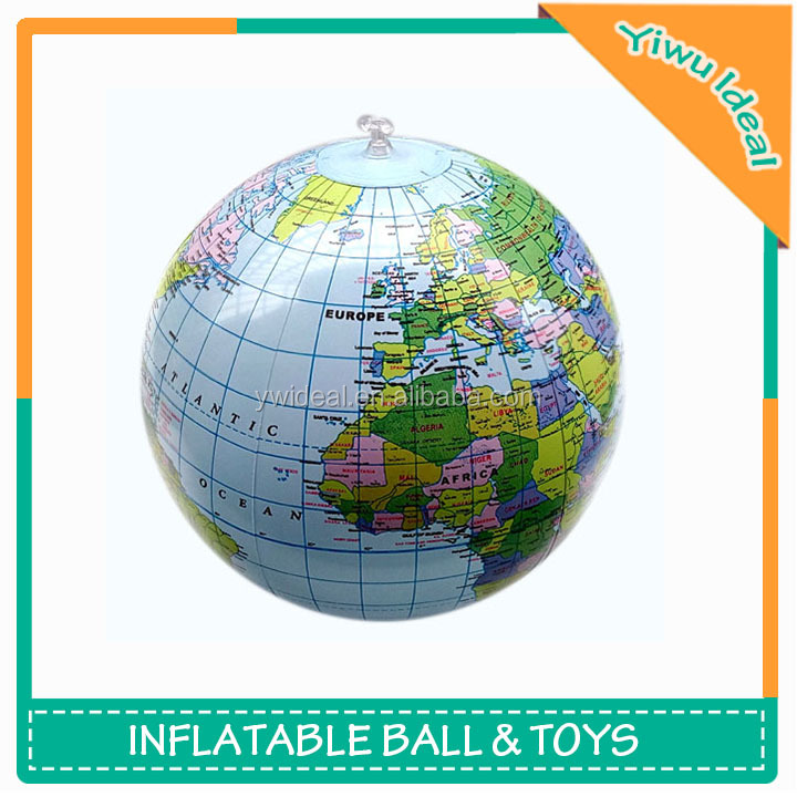 Promotional PVC Inflatable Earth Beach Ball Globe
