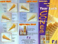 Multi-Taste Waffle Ice Cream Cone for Sale