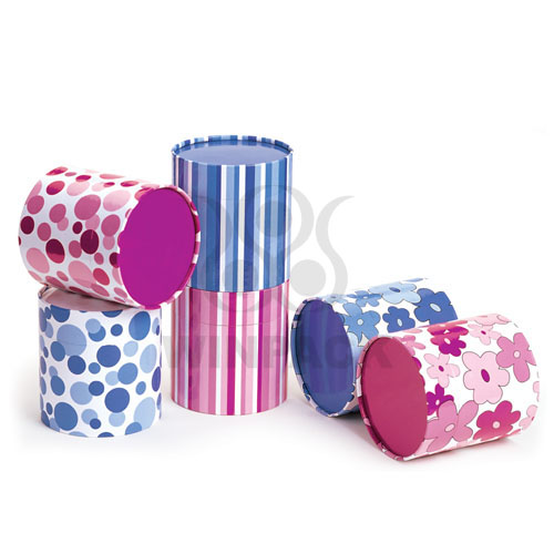 Recycled Fancy Paper Canister Round Gift Boxes